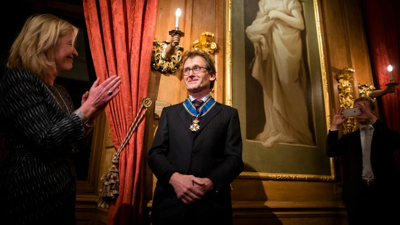 Ben Feringa, tijdens de uitreiking van een koninklijke onderscheiding, afgelopen maand. Foto: ANP