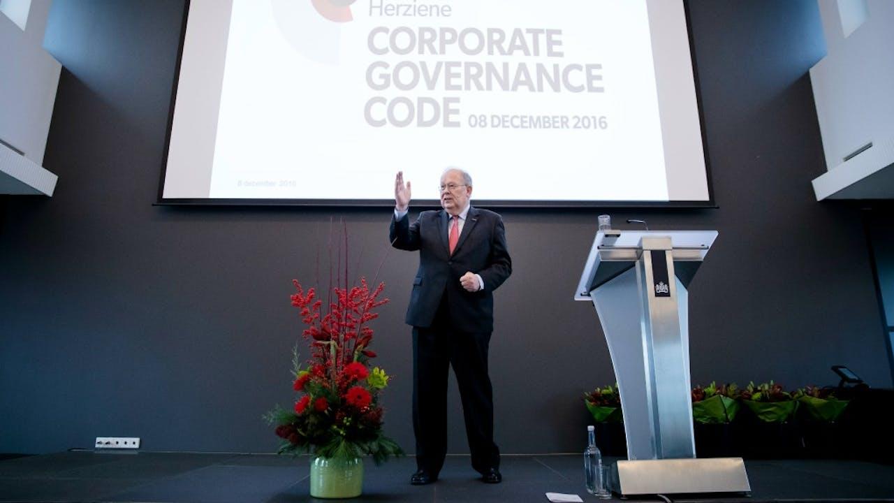 Jaap van Manen, voorzitter van de Monitoring Commissie Corporate Governance Code. Foto: ANP
