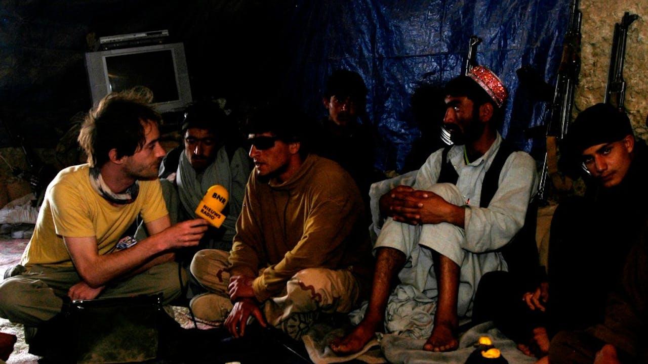 Hugo Reitsma als verslaggever in Afghanistan.