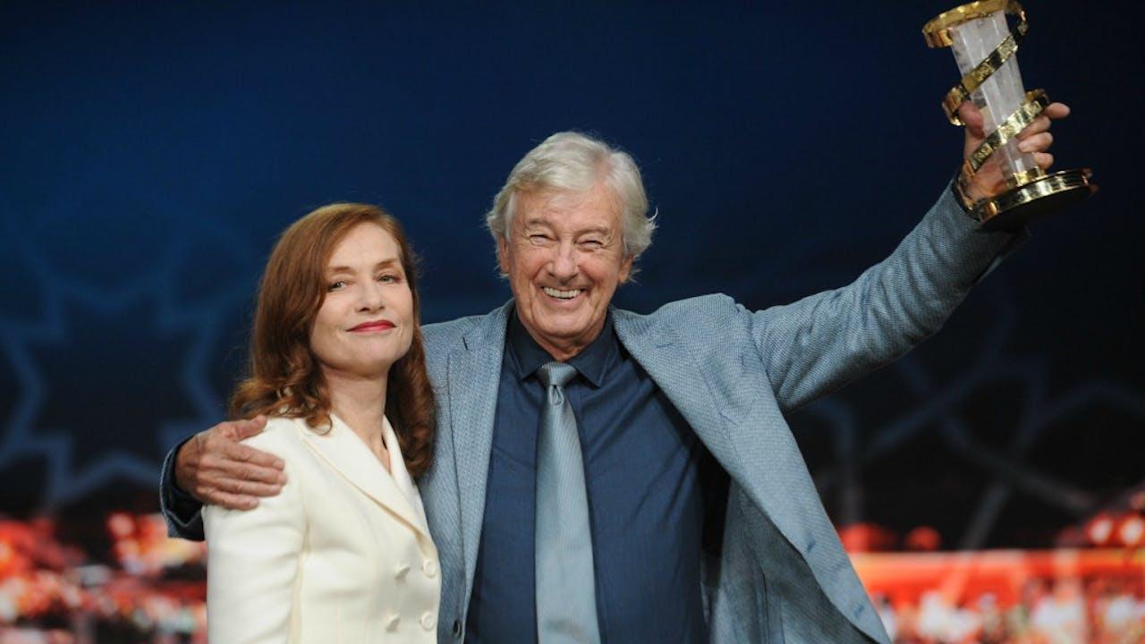 Isabelle Huppert en Paul Verhoeven. Foto: ANP.