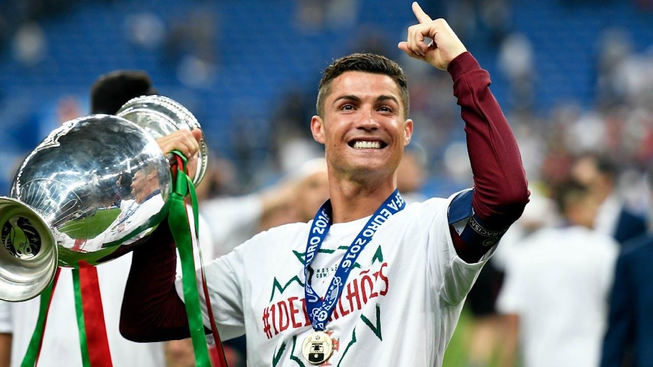 Ronaldo na het behalen van het Europees kampioenschap. Foto: HH.