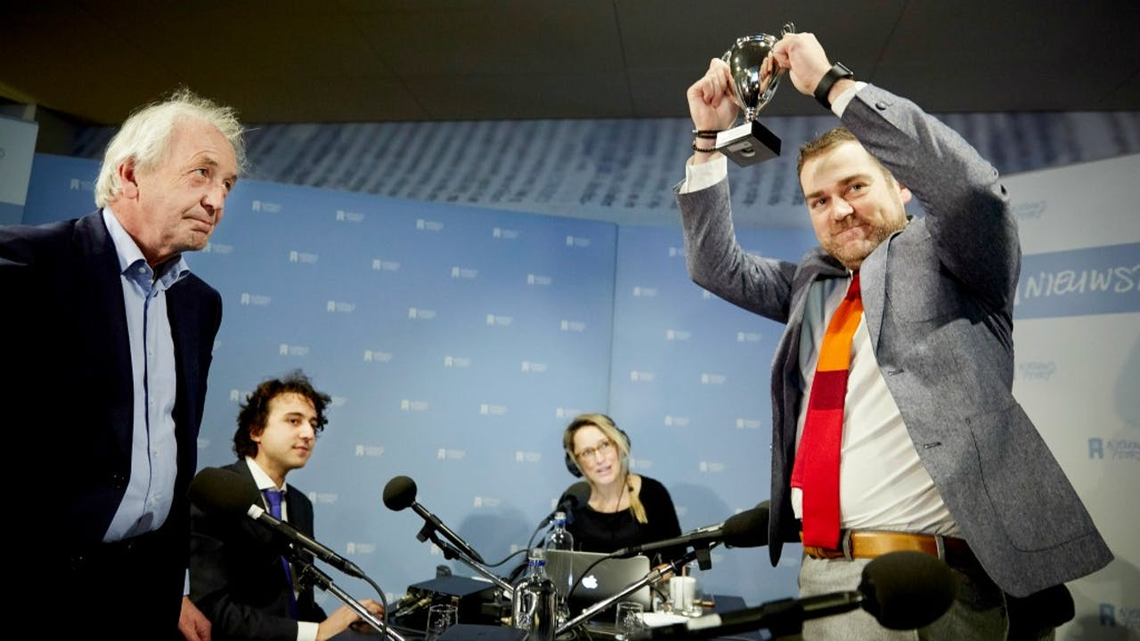 Vorig jaar werd hij nog wel uitgereikt. Staatssecretaris Klaas Dijkhoff mocht hem toen in ontvangst nemen. Foto: ANP/Martijn Beekman
