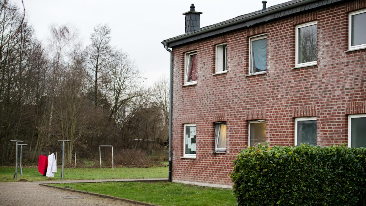 De vluchtelingenopvang in Emmerich. Foto: ANP.