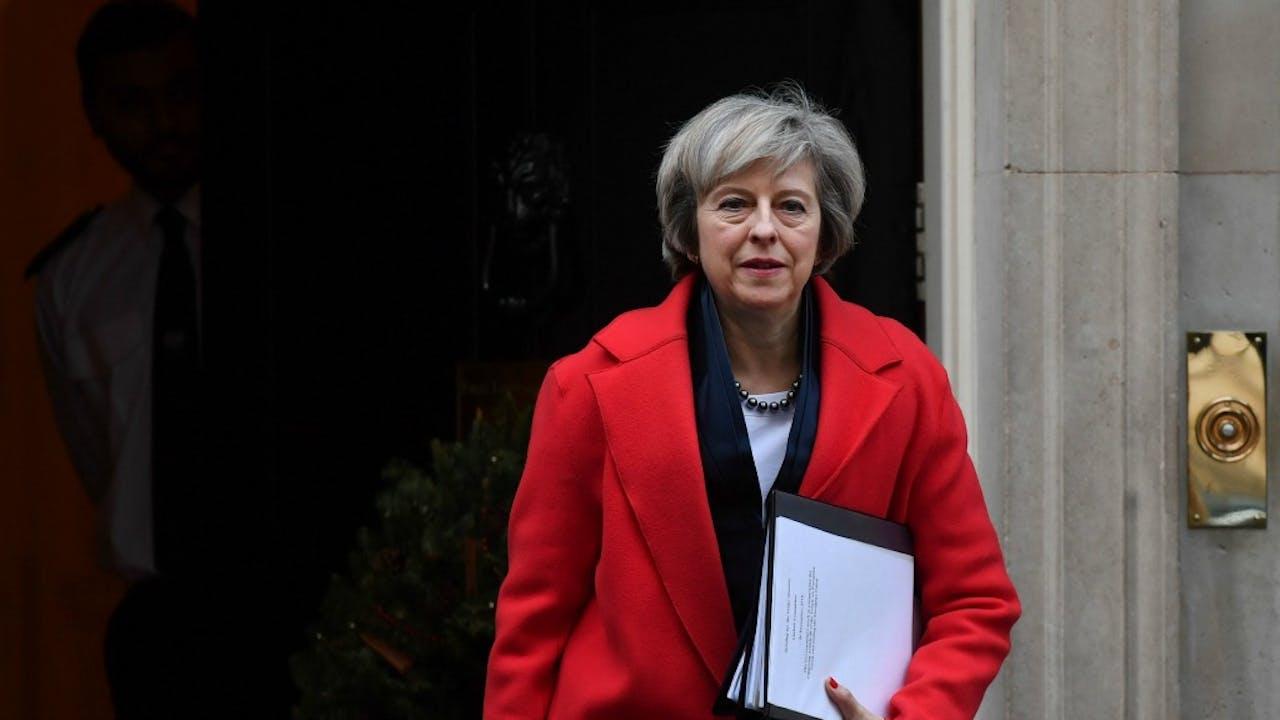 Theresa May. ANP/AFP