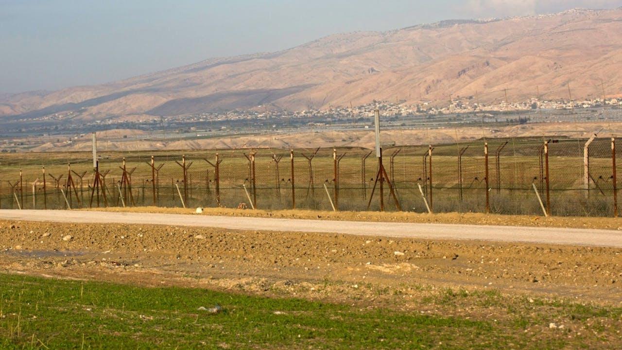 De grens tussen Israël en Jordanië. Foto: ANP.