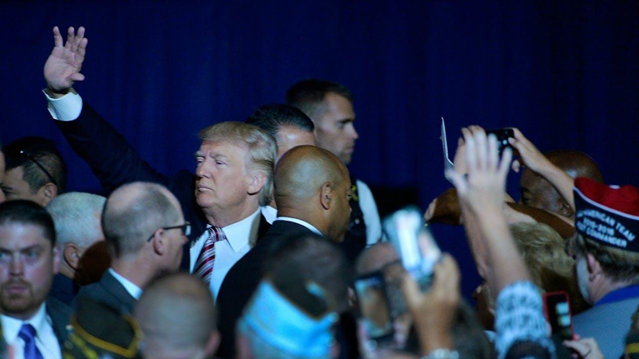 De verkiezingsoverwinning van Trump was een van de grootste nieuwsgebeurtenissen van 2016. Foto: ANP.