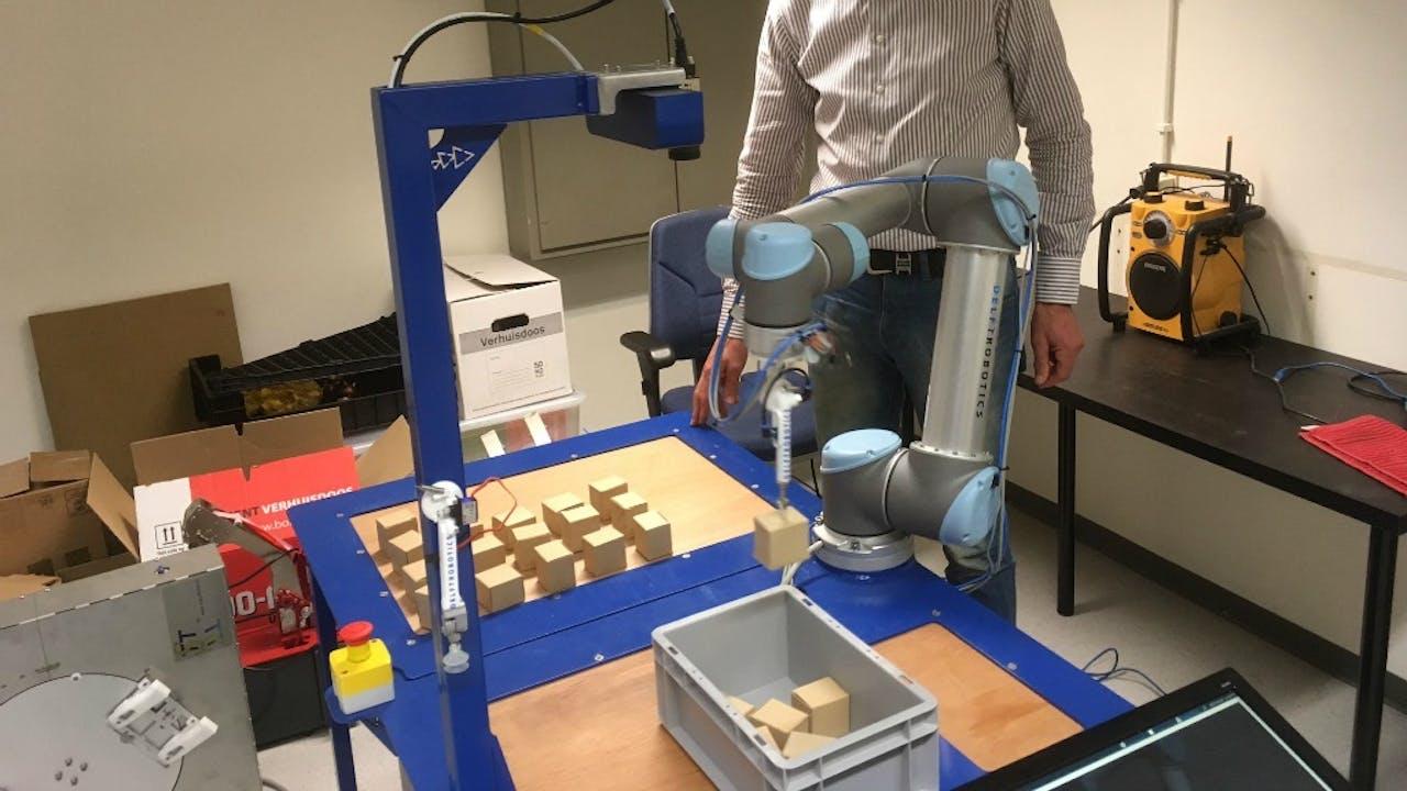 De robot van Delft Robotics. Foto: Rogier Dankerlui.