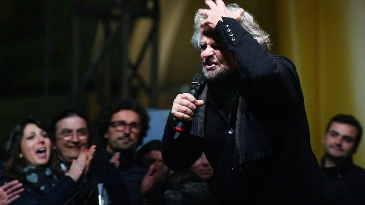 Grillo blijft nog even dakloos in Europa. Foto: ANP.