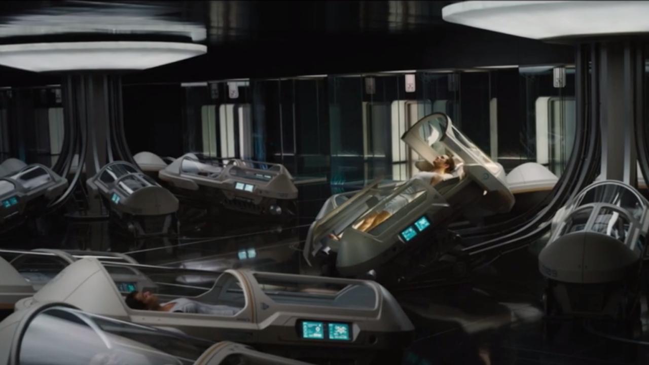 Screenshot van de trailer van de film Passengers