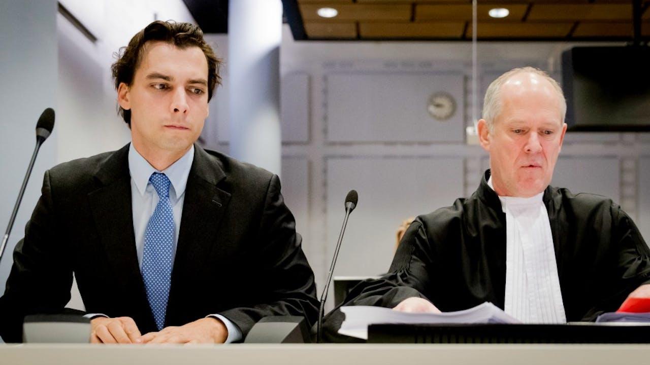 Thierry Baudet (L) in de rechtbank. Foto: ANP