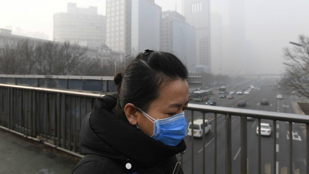 Smog in Peking. Zo erg is het in Nederland overigens niet. Foto: ANP.