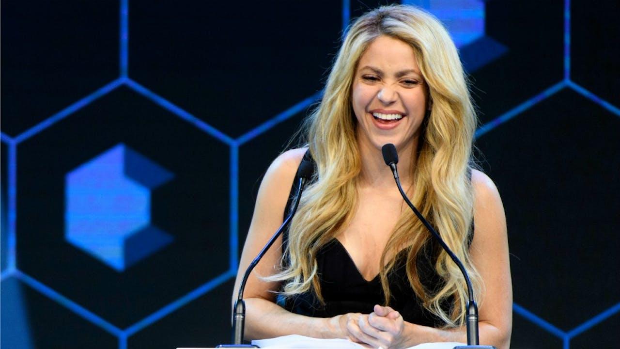 Shakira kwam bij de opening van het World Economic Forum al aan het woord. Foto: HH/Laurent Gillieron