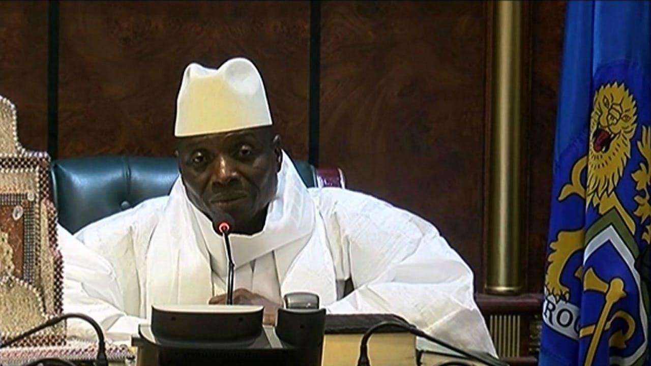 Het kan onrustig worden in Gambia wanneer president Yahya Jammeh weigert af te treden. Foto: AFP