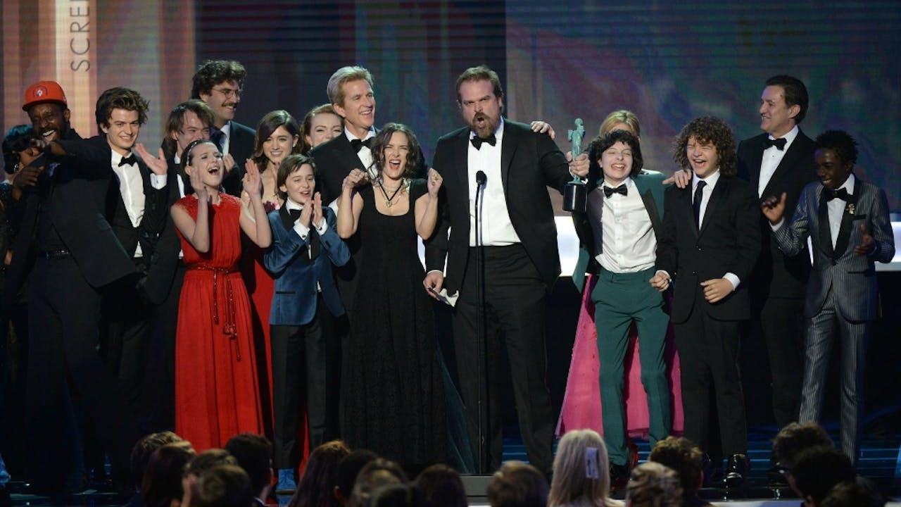Stranger Things wint 'Best preformance drama' tijdens Screen Actors Guild Awards 2017
