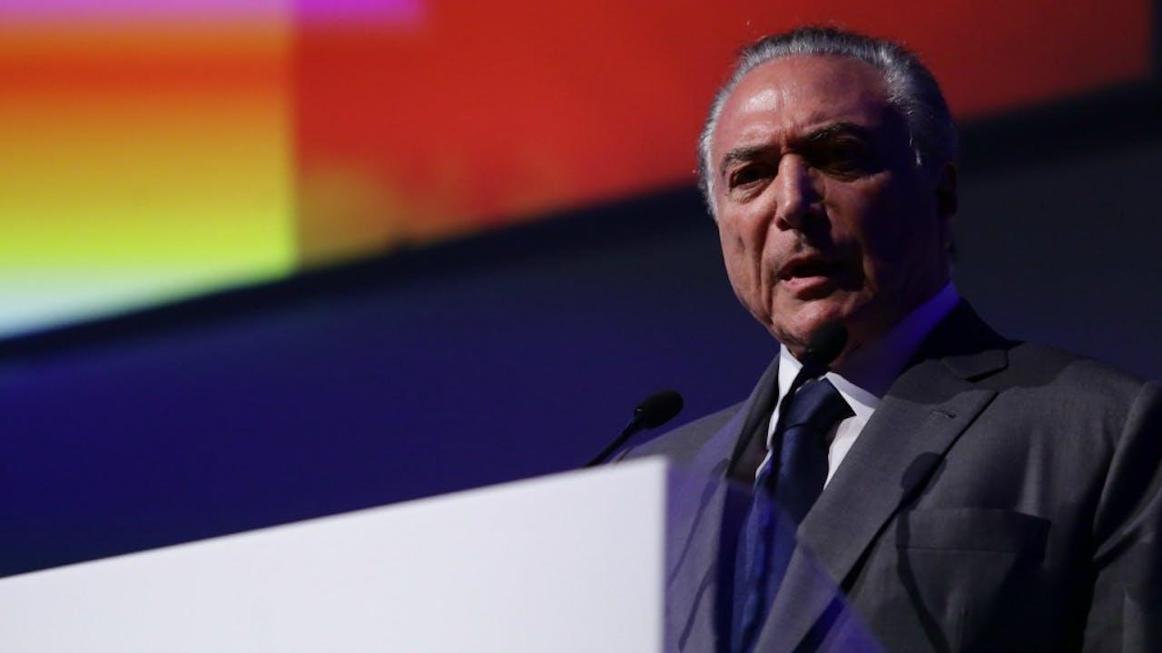 De Braziliaanse president Michel temer. Foto: HH/Paulo Lopes