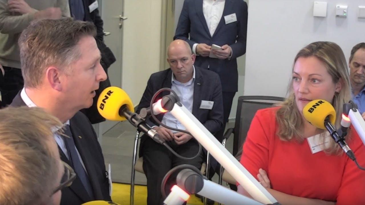 André Bosman (VVD) en Sandra Beckerman (SP). Beeld: BNR