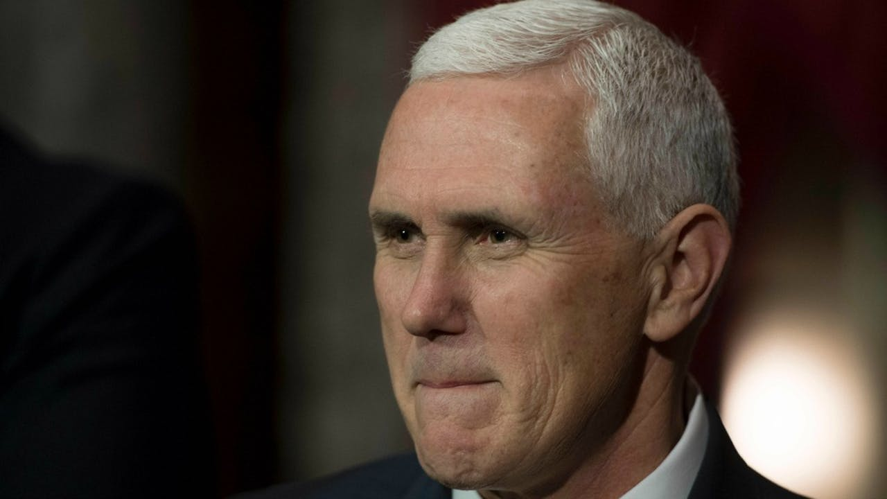 Vicepresident Mike Pence. ANP/AFP