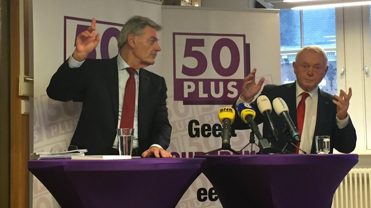 Martin van Rooijen en Jan Nagel tijdens de persconferentie. Foto Jaap Jansen