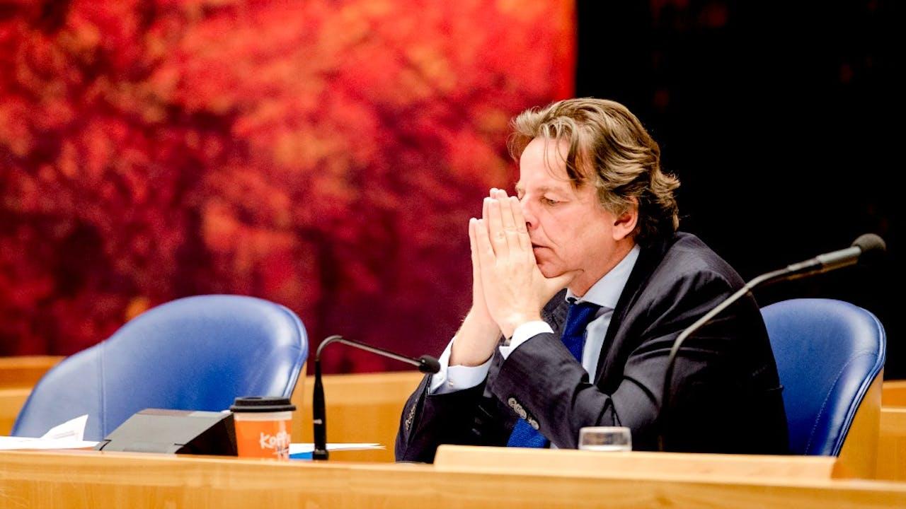 Minister Koenders tijdens een debat over een burgerinitiatief tegen een nationaal verbod op kernwapens. Foto: ANP