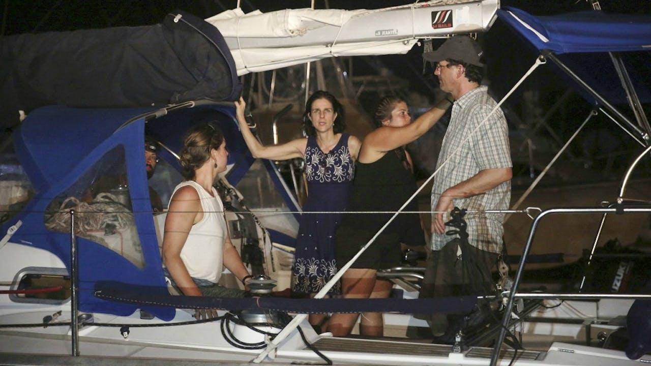 Activisten aan boord van de abortusboot Women on Waves op 24 februari. Foto: ANP