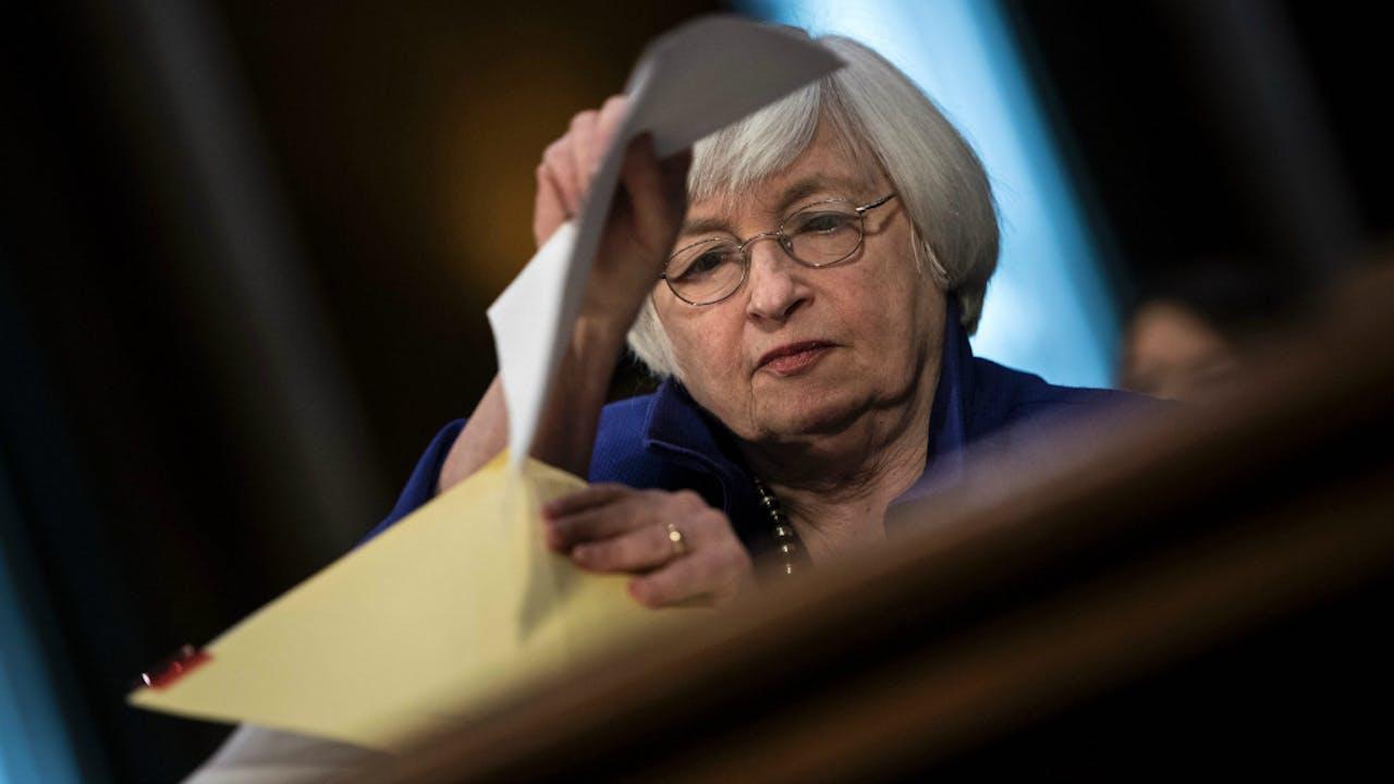 Janet Yellen, voorzitter van de Amerikaanse Centrale Bank. Foto AFP