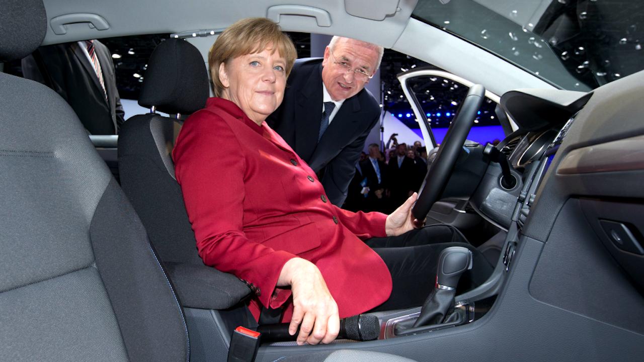 Angela Merkel en Martin Winterkorn in 2013. Foto: ANP
