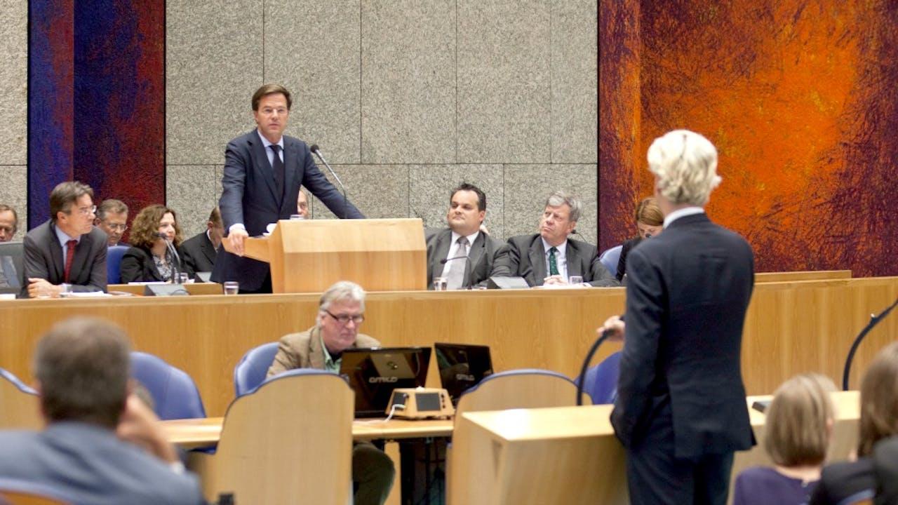 Wilders: 'Doe eens normaal man!' Rutte: 'Doe zelf normaal!' Een les over respect in 2011? Foto: ANP
