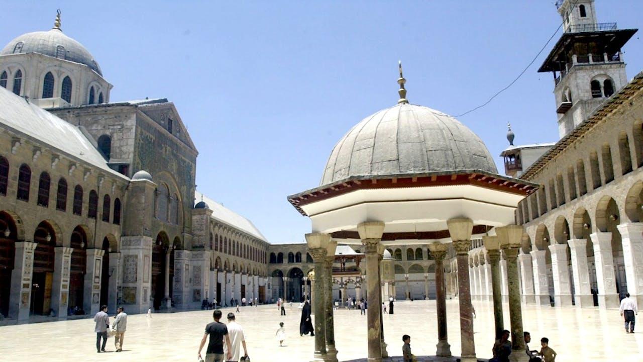 Binnenplein van de Omajjaden Moskee in Damascus. Foto: ANP