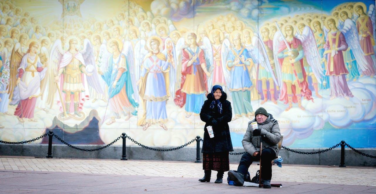 Bedelaars in Kiev. Foto: ANP