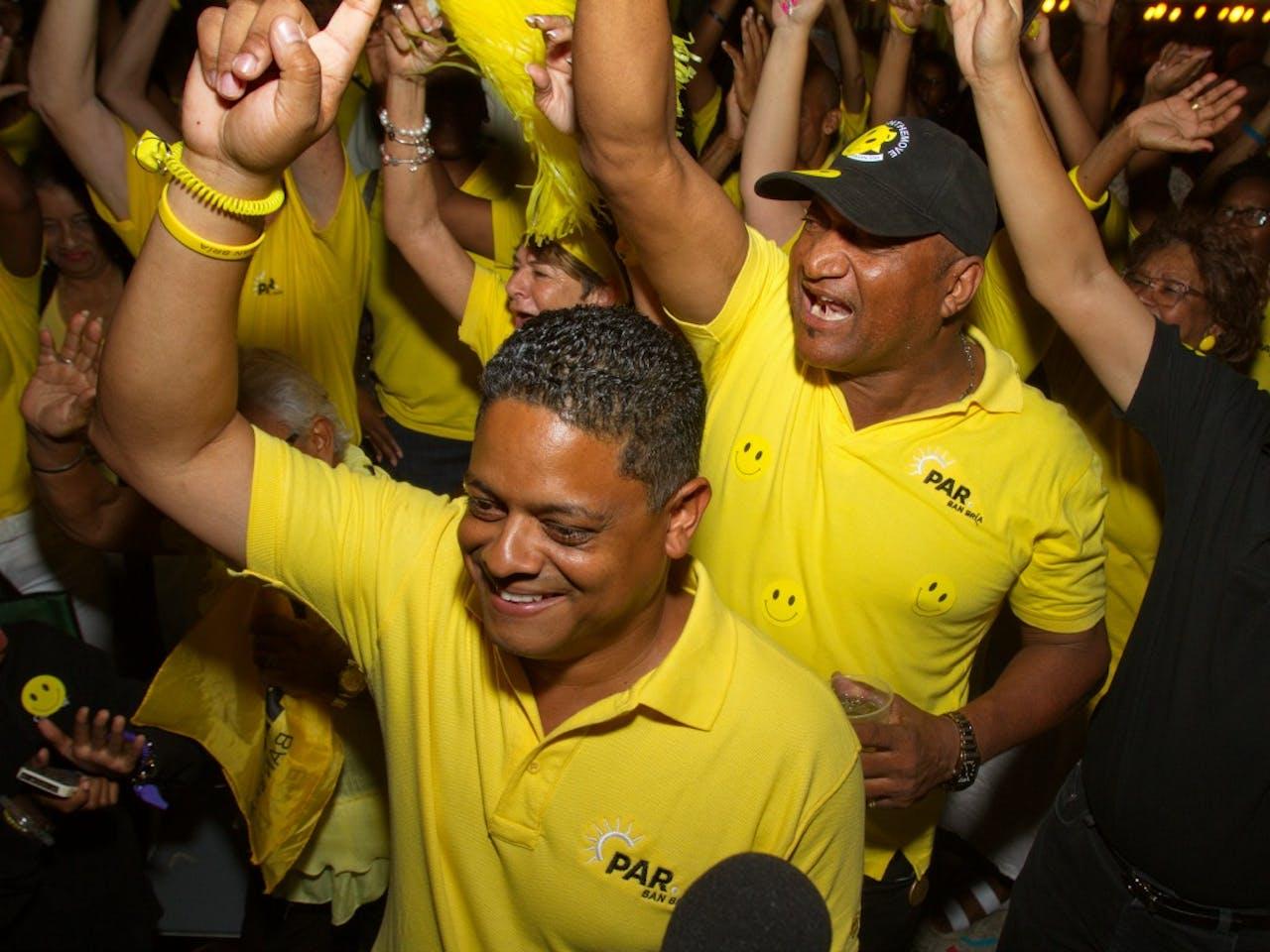 De winnende partij PAR. Foto: ANP.