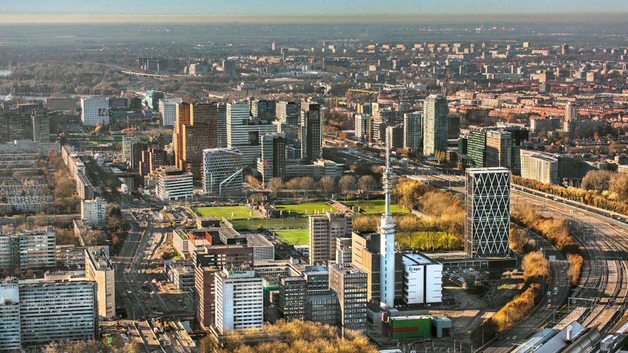 De Zuidas in Amsterdam. Foto ANP