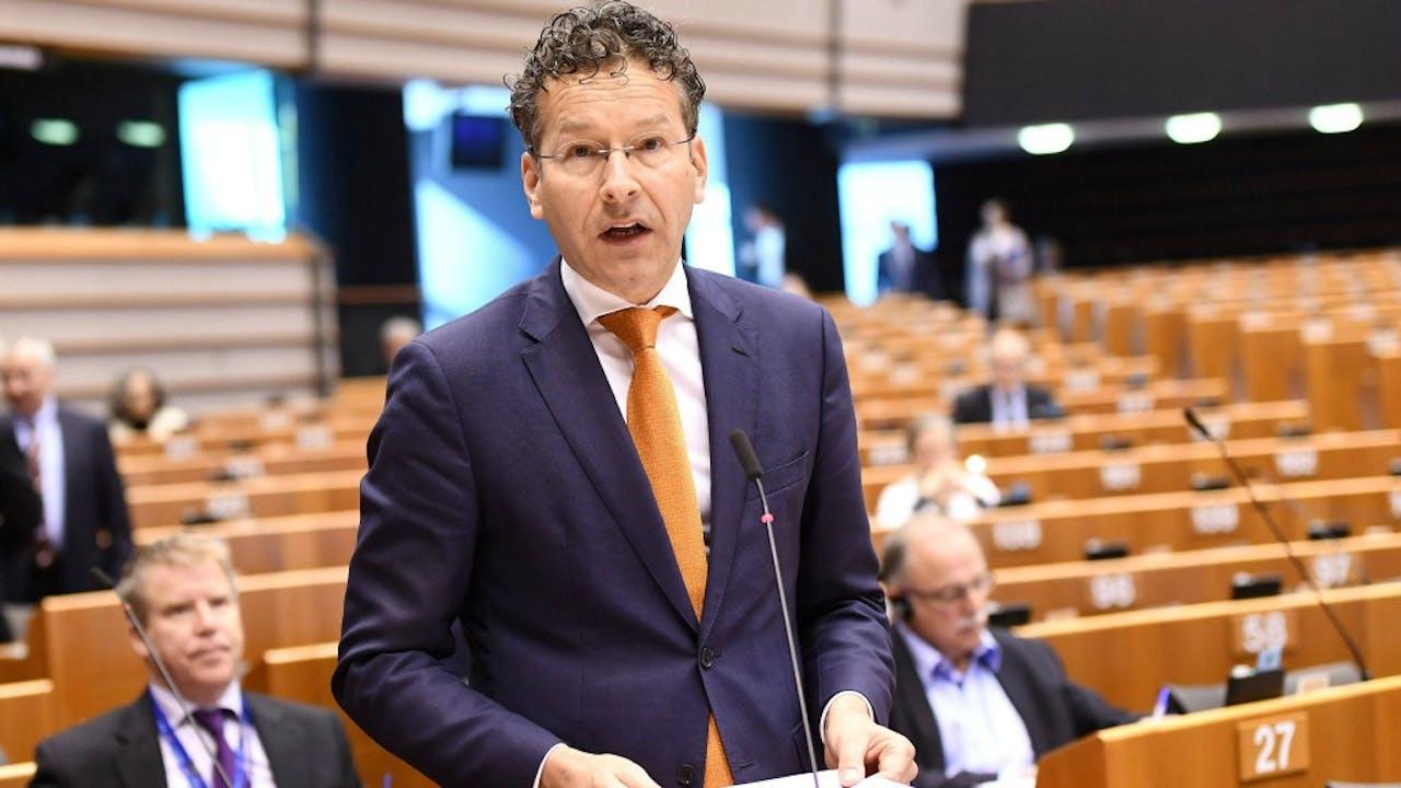 Jeroen Dijsselbloem, demissionair minister van Financiën en voorzitter van de eurogroep. Foto ANP