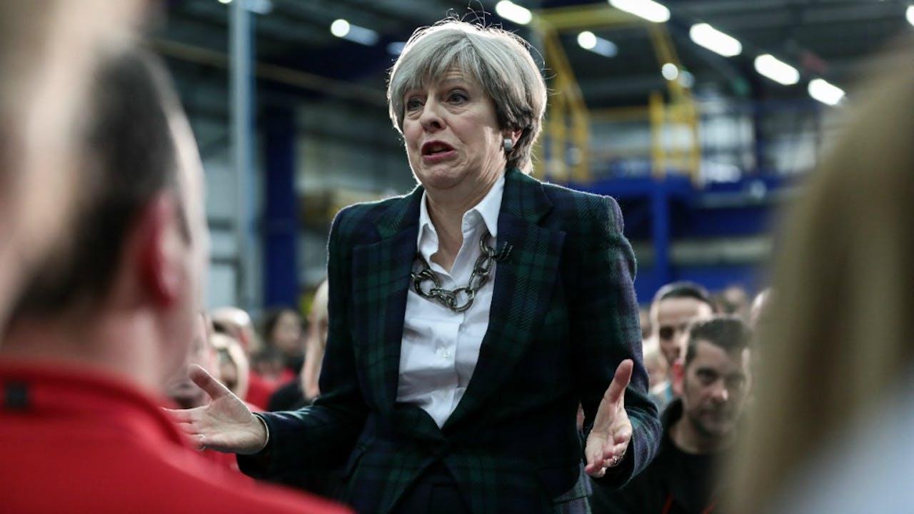 De Britse premier Theresa May. Foto ANP