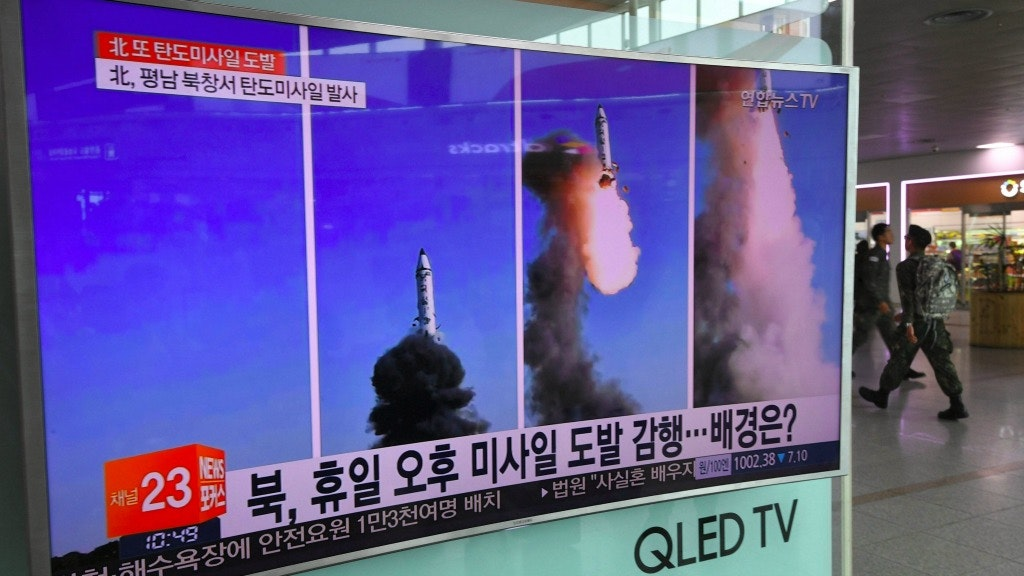 VS vuren testraket af van legerbasis Californië