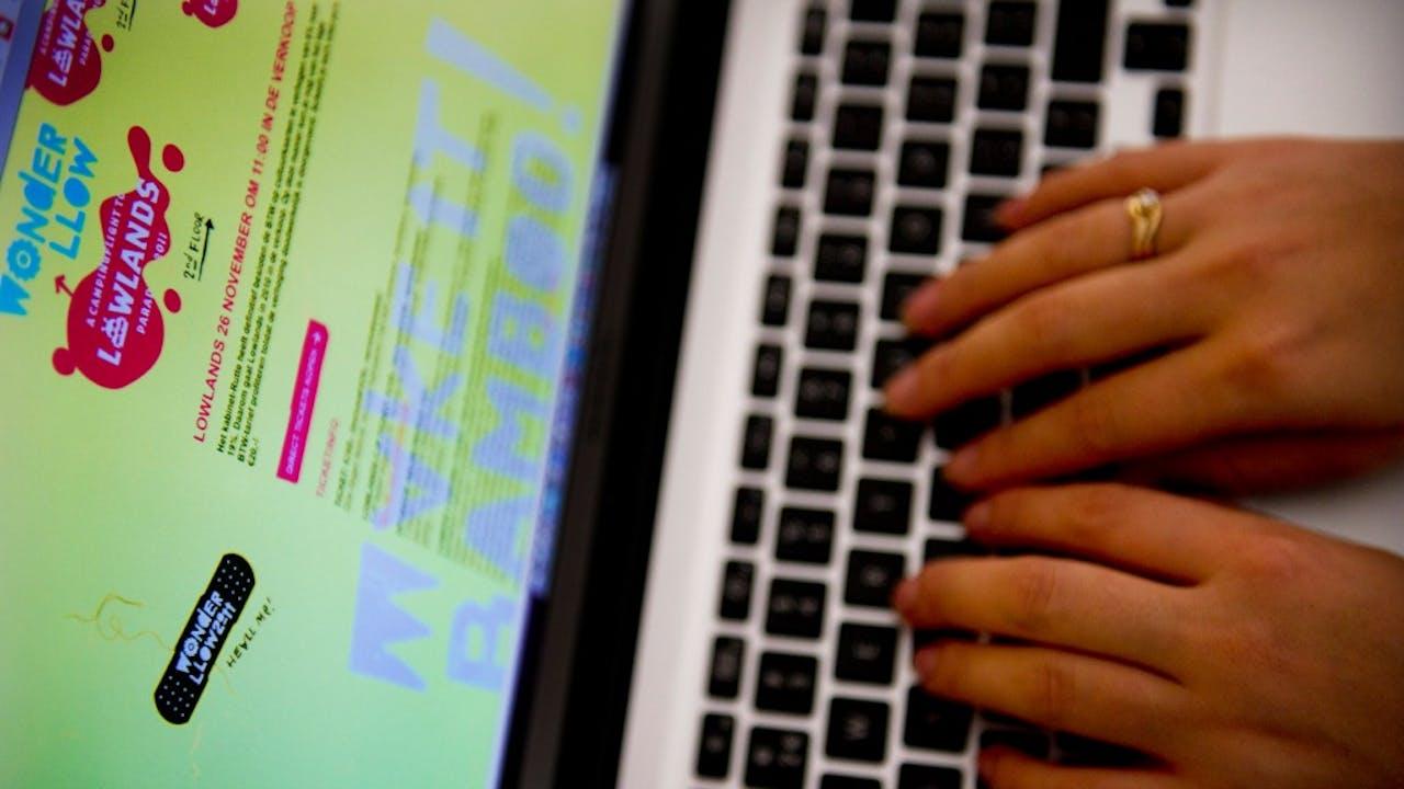 Online kaartverkoop. Foto: ANP.