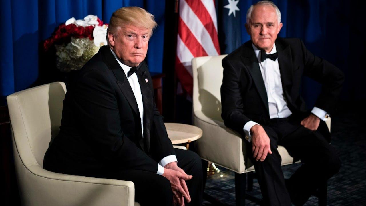 Trump en Turnbull. Foto: ANP.