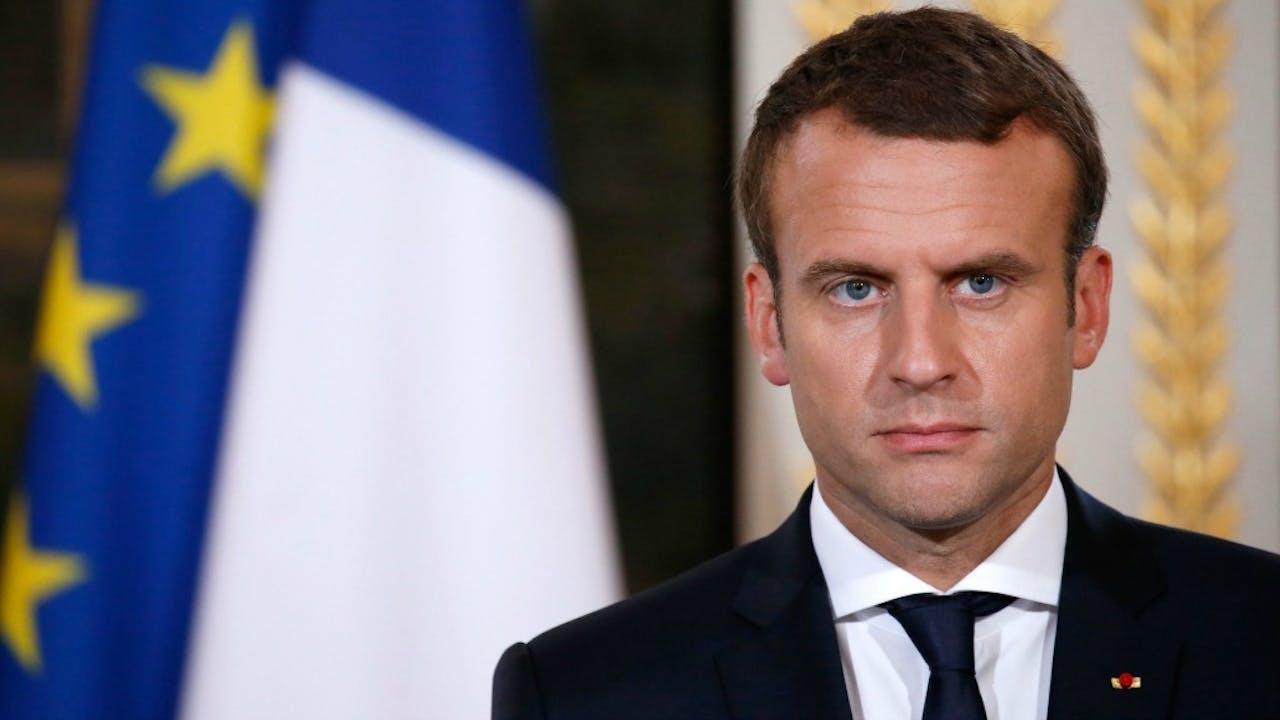 De Franse president Emmanuel Macron. Foto ANP