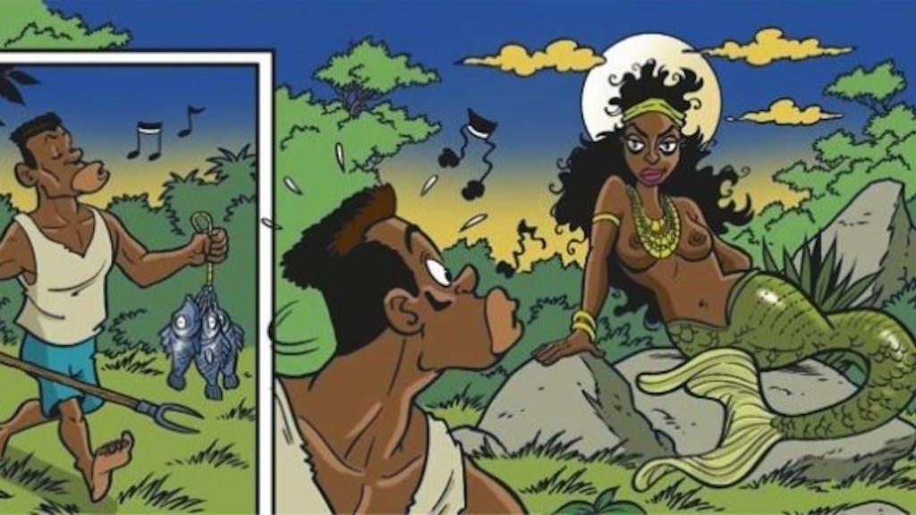 tjilpen Afrikaanse enorme borsten