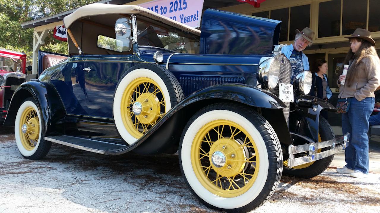 Ford Model A uit 1930, met voorop een Klaxon (Foto: Michel Curl, via Flickr)