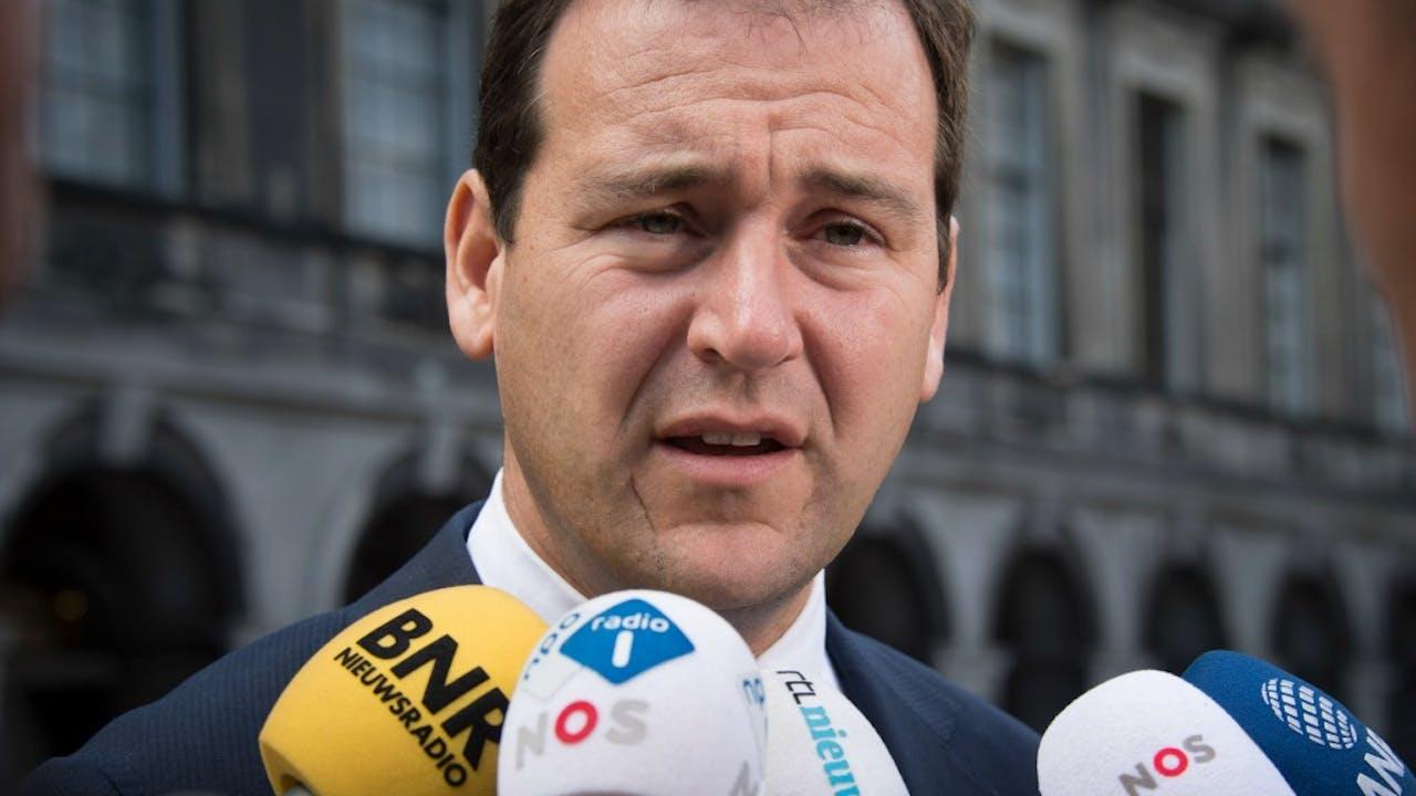 Demissionair vicepremier en PvdA-leider Lodewijk Asscher op het Binnenhof. Foto ANP