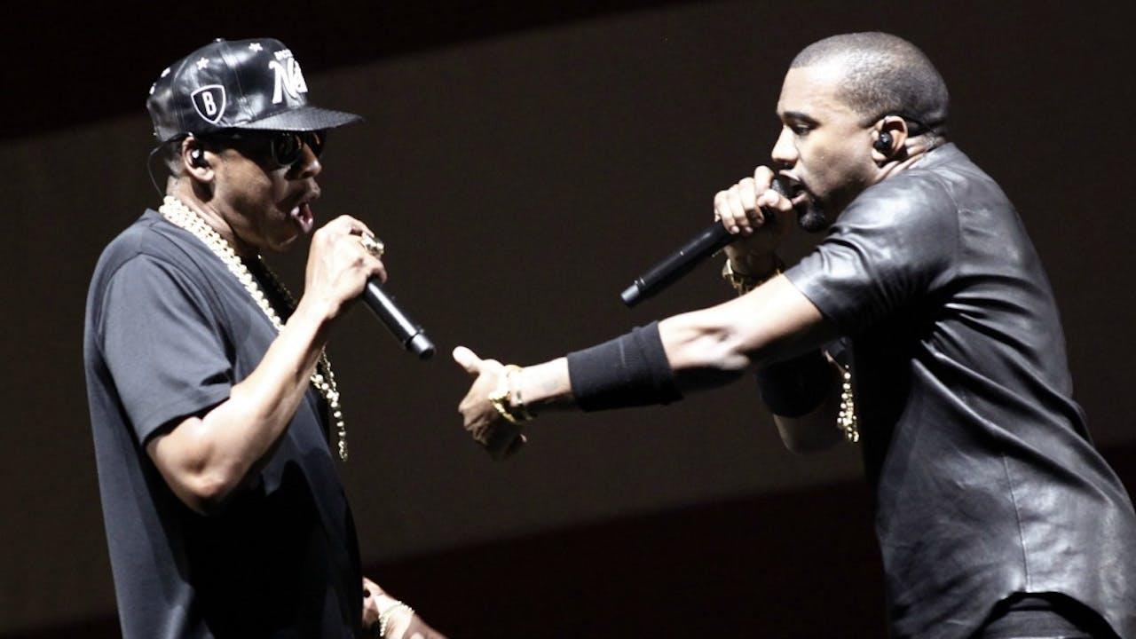Jay-Z en Kanye West tijdens hun 'Watch the Throne'-tour in 2012. Foto: ANP/AFP