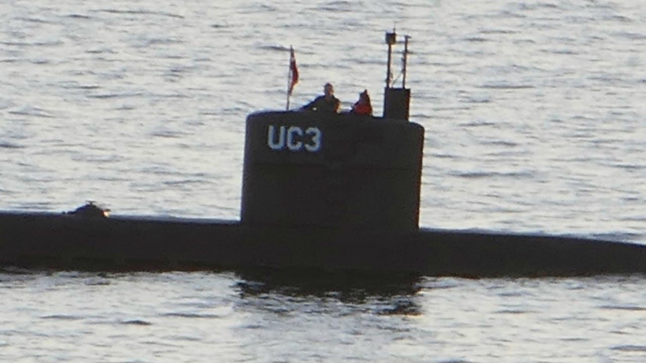10 augustus: Kim Wall aan boord bij Peter Madsen in de haven van Kopenhagen. Foto: ANP/AFP