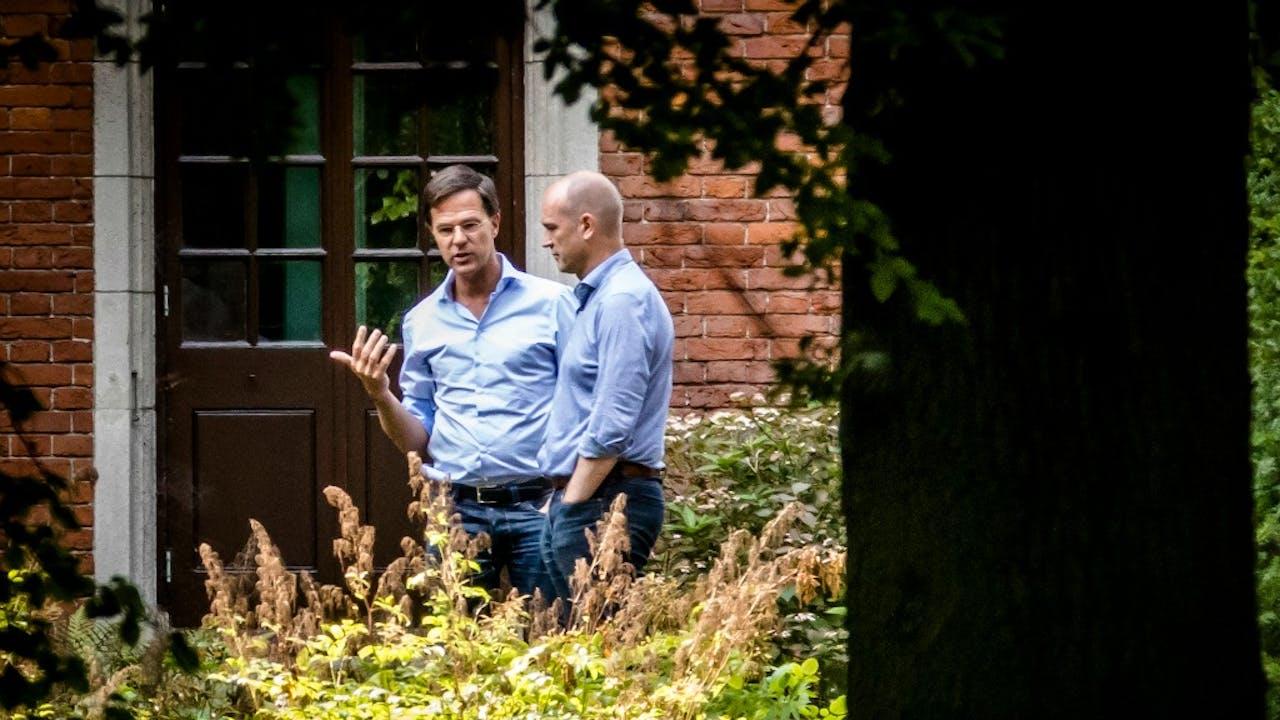 Rutte en Segers lijken de juiste weg te hebben gevonden. Foto: Bart Maat, ANP