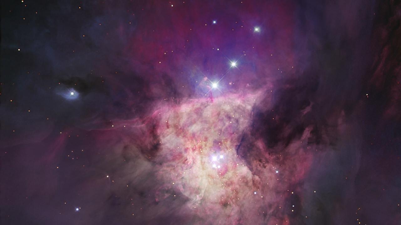 Trapeziumcluster in de Orionnevel, een van de plekken die in de virtuele windtunnel werden nagebootst voor dit experiment (Foto: public domain)