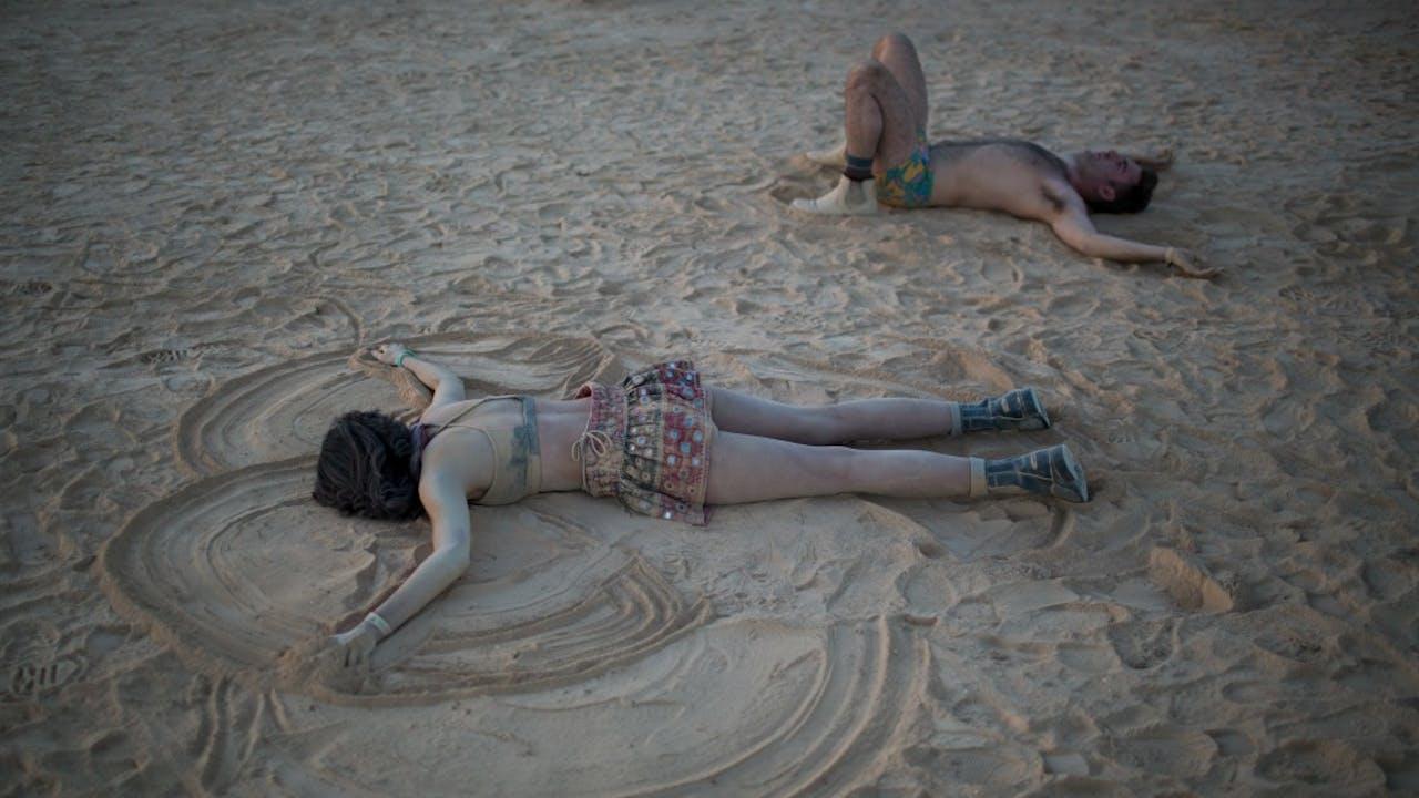 'Zo, dus wat heb je op Burning Man gedaan dit jaar?' Foto ANP
