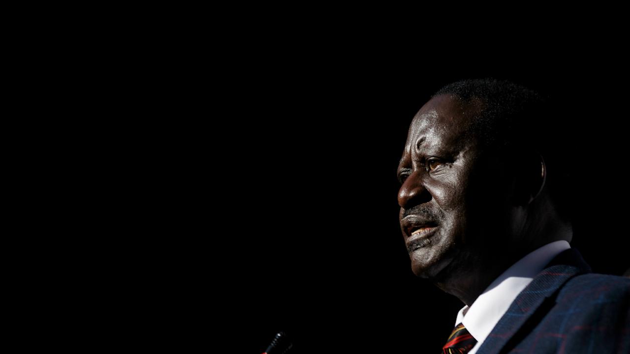 Oppositieleider Raila Odinga. Foto: HH/AP