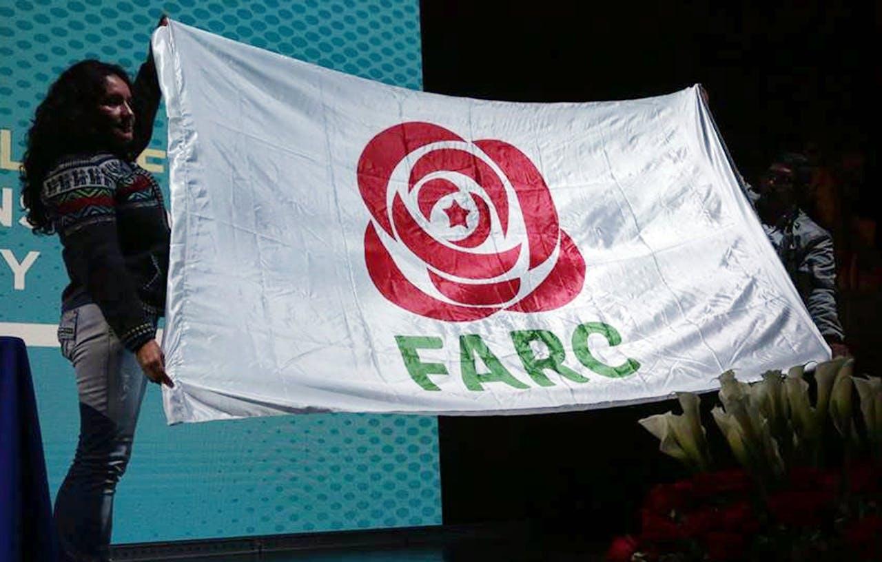Het nieuwe logo van de FARC. ANP/EPA