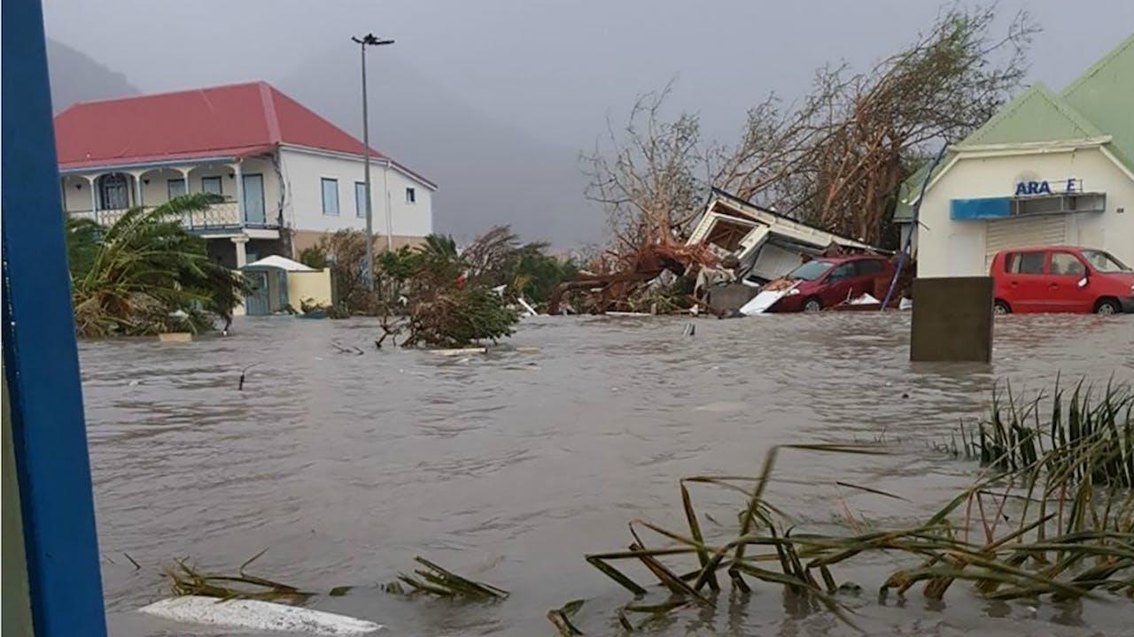Schade na orkaan Irma op Sint Maarten. Foto ANP