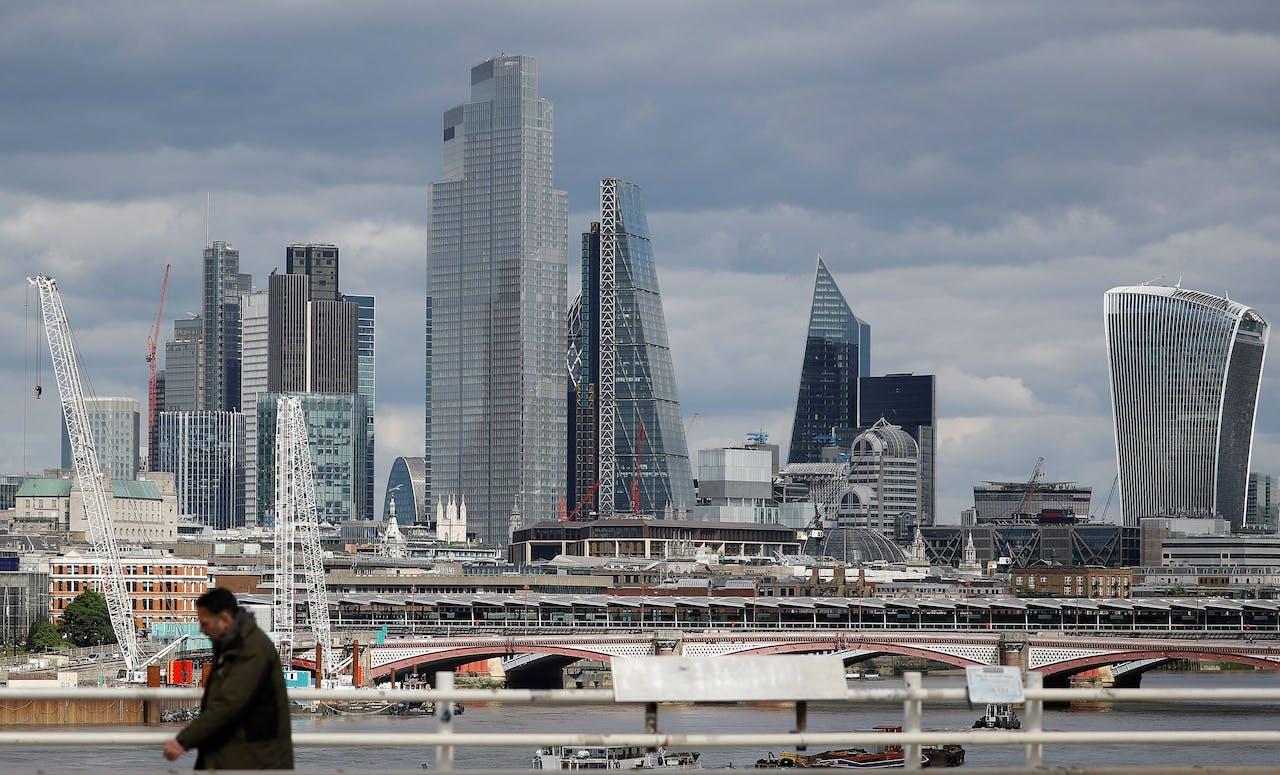 De Londense skyline straalt nog in volle glorie