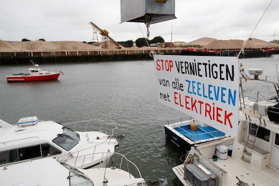 Protesten tegen pulsvissen